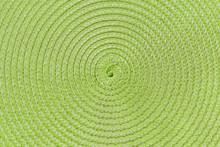 Green Circular Pattern Background  Of Wicker Napkin
