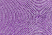 Purple Circular Pattern Background  Of Wicker Napkin