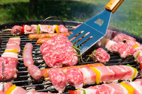 Plakat Mięso na grilla