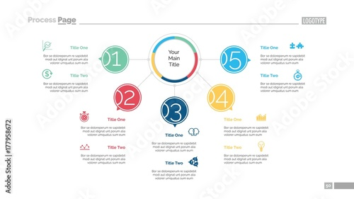 Photo  Five Points Workflow Slide Template