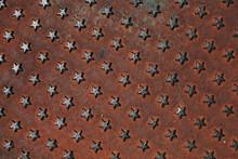 Little Stars On Oxidized Background.