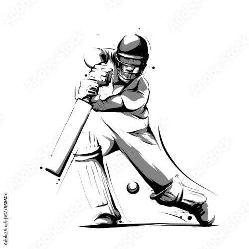 Obraz na płótnie cricket player batsman bat front