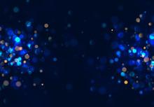 Bokeh Blue Lights Vector Texture.