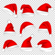 Christmas Santa Claus Hats Set...