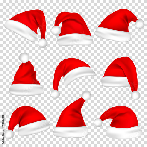 Photo  Christmas Santa Claus Hats Set