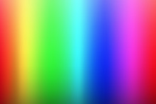 Vector Olor Spectrum Background, Rainbow Colors, Palette Of Rgb Colors, Blurred Colored Illustration