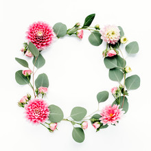Floral Round Frame Wreath Made...