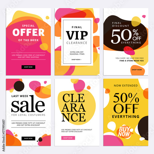 black friday sale banners set of social media web banners for