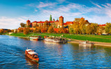 Wawel castle famous landmark in Krakow Poland. Picturesque
