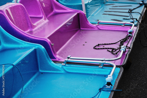 Bright shiny pedal boats © korinoxe