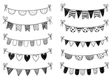 Vector Set With Hand Drawn Doo...