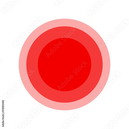 Symbol Of Pain Red Fading Circles Illustration Buy This Stock