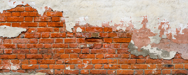 FototapetaOld Brick wall panoramic view.