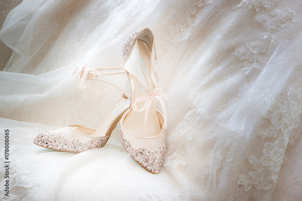 Fototapeta Bridal shoes