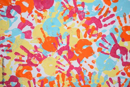 Valokuva  texture handprint