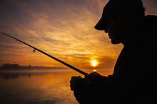 Fisherman Throwing His Rod, Fi...