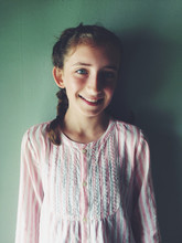 Portrait Of Happy Eleven Year Old Girl