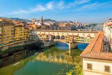 Ponte Vecchio Over The Arno River In Florence