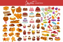 Sweet Collection Of Tasty Deco...