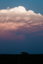 Thick Storm Cloud At Sunset - ...