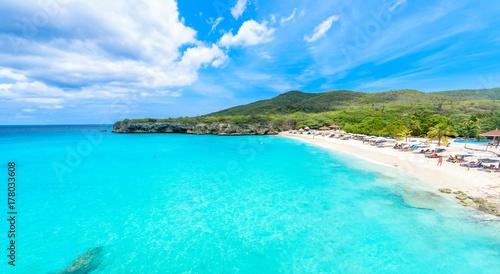 Grote Knip beach, Curacao, Netherlands Antilles - paradise beach on tropical car Wallpaper Mural