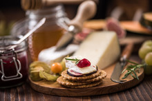 Cheese Crackers With Camembert...