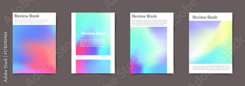 Photo  Hipster unusual old style bright colorful folder cover templates