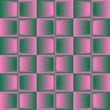 Pink green blended geometric seamless pattern.