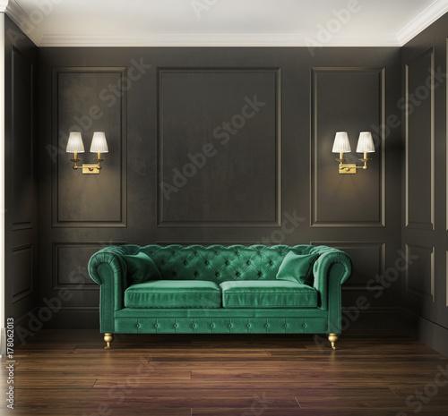 Classic elegant luxury green velvet sofa – kaufen Sie diese ...