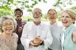 canvas print picture - Group of Senior Retirement Friends Happiness Concept