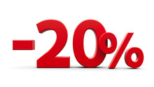 Red Minus Twenty Percent
