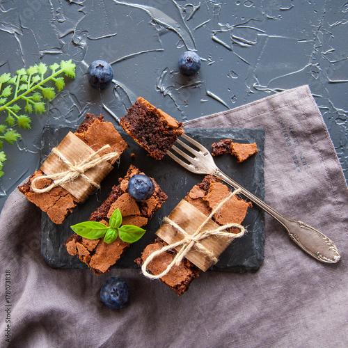 Plakat Słodka czekoladowa ciasteczka