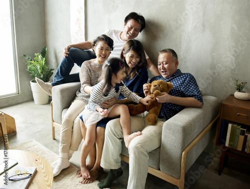 Fényképezés  Happy japanese family