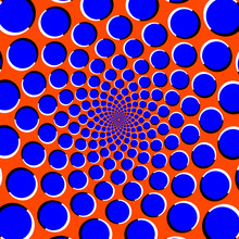 Blue Circles On Orange Backgro...