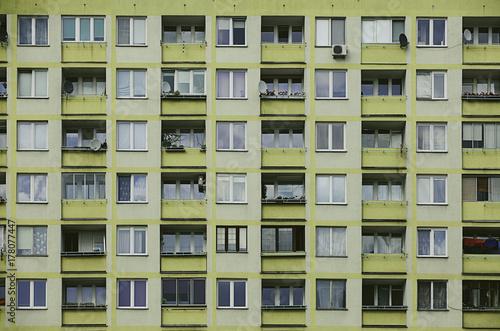 Facade of a building in Warsaw