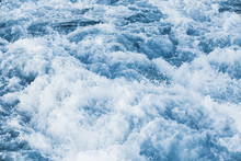 Stormy Sea Water With Splashes And Foam