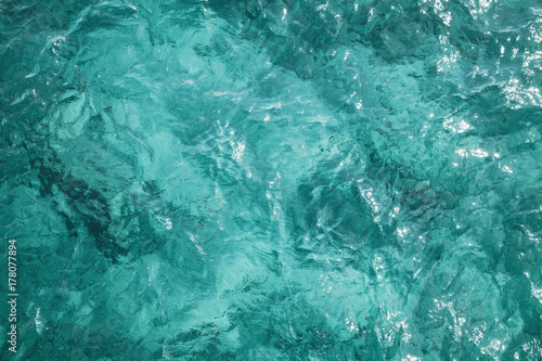 Fototapeta Blue ocean water surface, background photo obraz