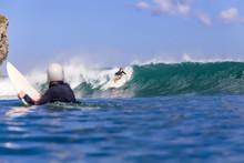 Indonesia, Bali, Surfer Watchi...
