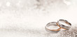 canvas print picture - Designer wedding rings on a sparkling background