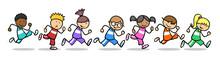Kinder Laufen Ein Wettrennen B...