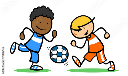Kinder bei Integration durch Fußball spielen - Buy this ...