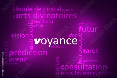 Foto  Nuage de Mots Voyance v2