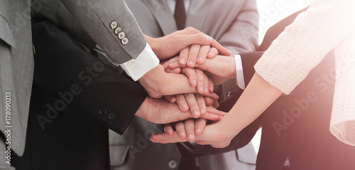 Photo  concept team:friendly Manager and business team should put their