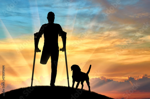 Photo Concept of people with disabilities