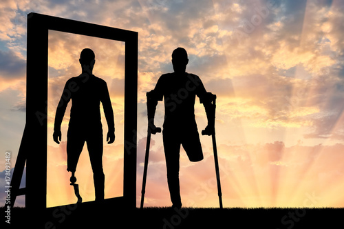 Concept of the prosthetics of people with disabilities Wallpaper Mural