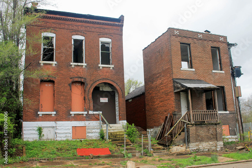 Abandoned Blighted Neighborhood in St. Louis Canvas Print