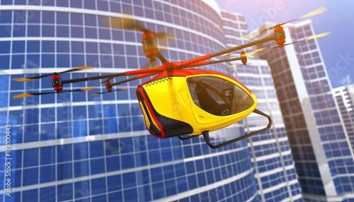 Fényképezés  Electric Passenger Drone. 3D illustration