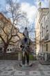 Franz Kafka statue in Prague