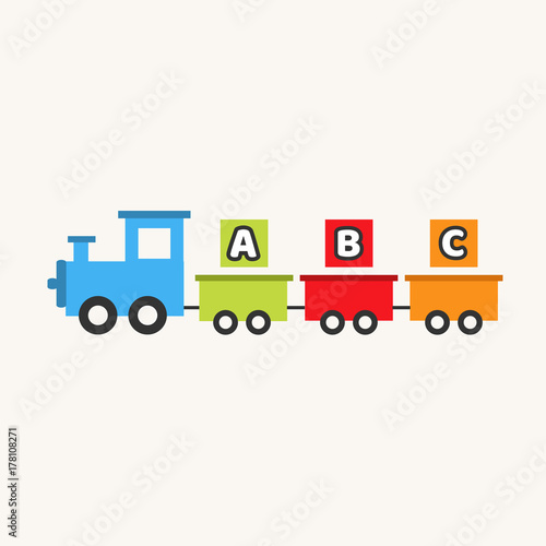 ABC train toy  Cartoon train  Children's toy  Train with