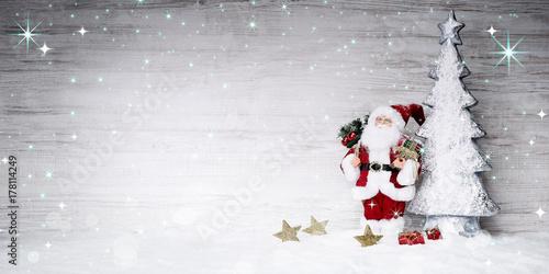 Zdjęcie XXL Bożenarodzeniowy tło z Święty Mikołaj